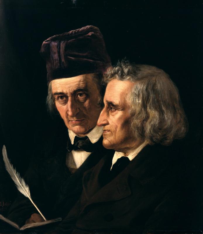 「グリム兄弟の肖像」(エリザベート・イェリカウ・バウマン作)