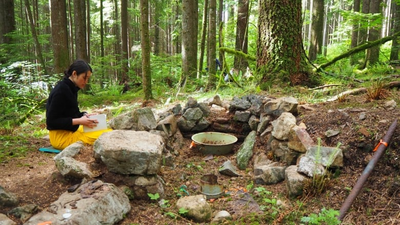 発見された浴場の遺構