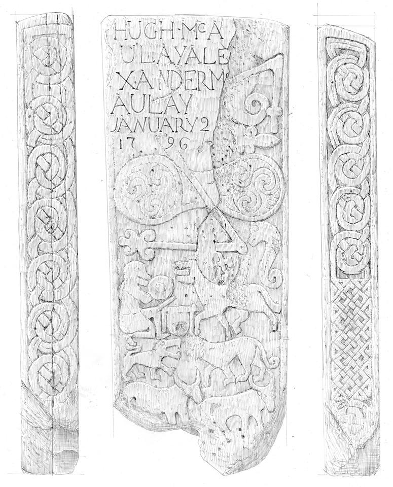 発見されたピクト系の石柱