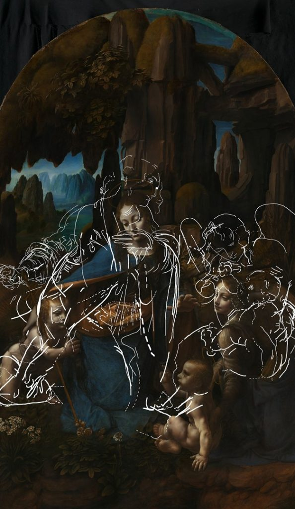 明らかになった「岩窟の聖母」下書きの構図