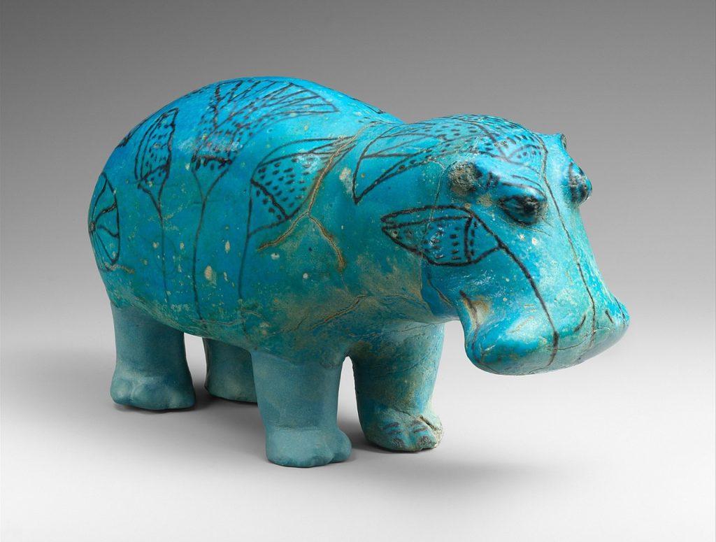 「メトロポリタン美術館収蔵、エジプト中王国時代のカバの置物