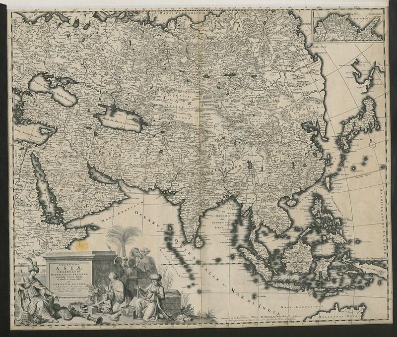 """""""Exactissima Asiæ Delineatio, in Præcipuas Regiones, Cæterasqe Partes divisa, et denuo in lucem edita per Carolum Allard. """" / Witsen, Nicolaas / Maps K.Top.114.7."""